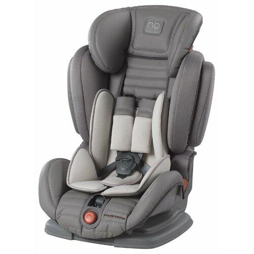 Автокресло группа 1/2/3 (9-36 кг) Happy Baby Mustang, grey