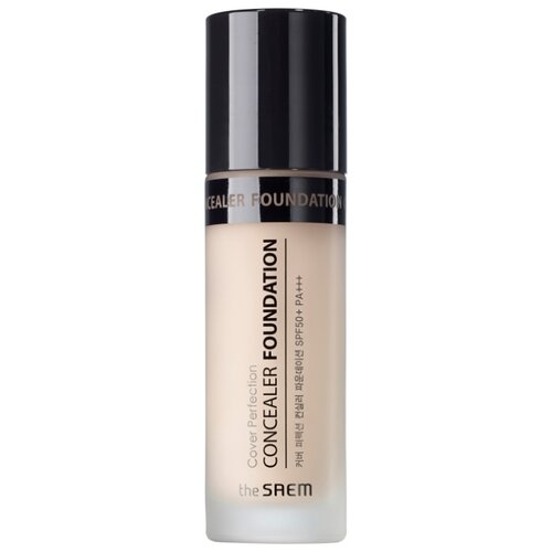 The Saem Консилер Cover Perfection Concealer Foundation, оттенок 01 Clear Beige the saem консилер стик cover perfection stick concealer оттенок 02 rich beige