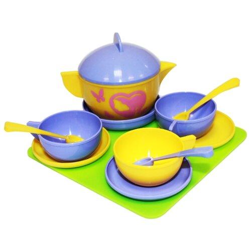 Набор посуды Пластмастер Чайное трио 21071 разноцветный ролевые игры пластмастер набор посуды сахарок