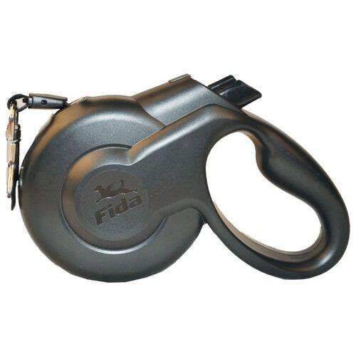Поводок-рулетка для собак Fida Styleash тросовая (XS) черный 3 мПоводки для собак<br>