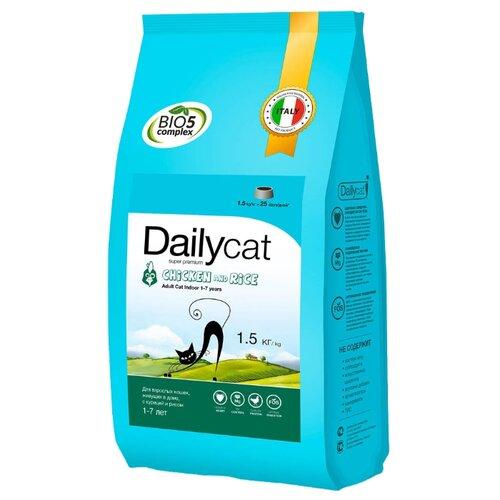 Сухой корм для кошек DailyCat для живущих в помещении, с курицей 1.5 кг