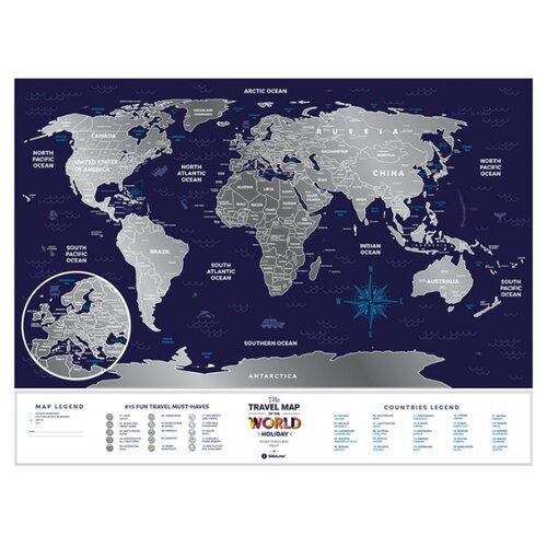 1DEA.me Скретч Карта Мира Holiday