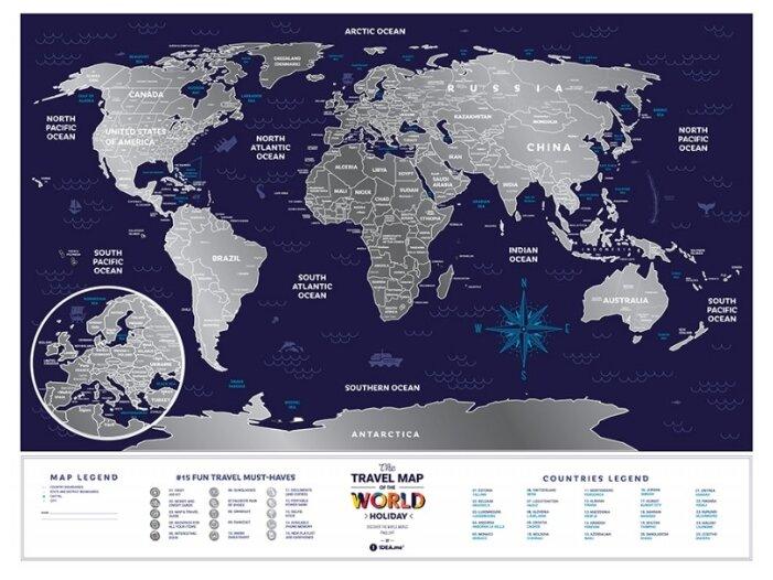 Cкретч карта мира 1DEA.me