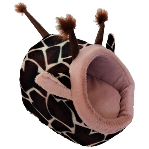 Домик для собак и кошек LOORI Жираф 30х35х30 см коричневый