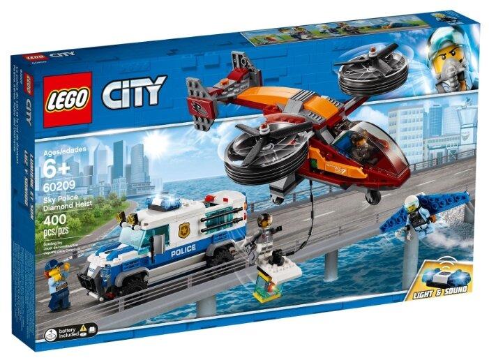 Конструктор LEGO City 60209 Воздушная полиция: Кража бриллиантов