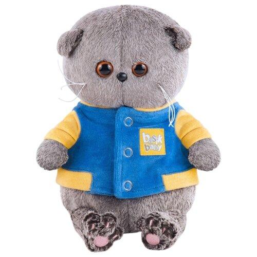 Купить Мягкая игрушка Basik&Co Кот Басик baby в синей куртке с желтой отделкой 20 см, Мягкие игрушки