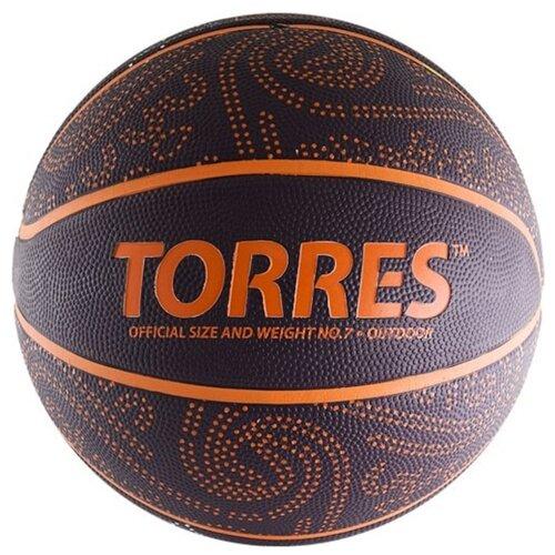 Баскетбольный мяч TORRES TT, р. 7 бордовый/оранжевый
