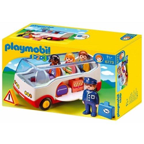 Купить Набор с элементами конструктора Playmobil 1-2-3 6773 Перонный автобус, Конструкторы