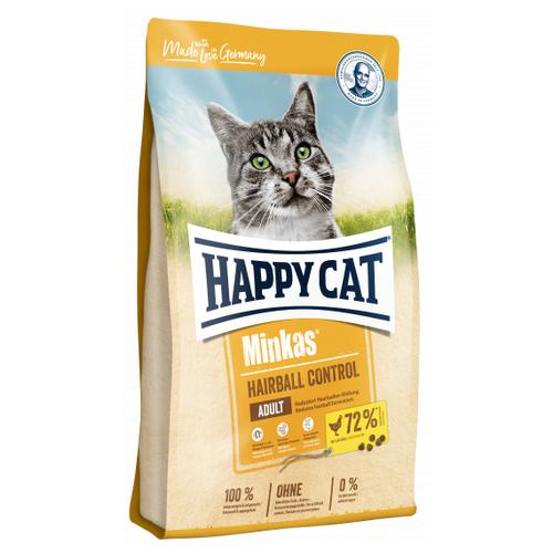 Сухой корм для кошек Happy Cat Minkas, для вывода шерсти 10 кг