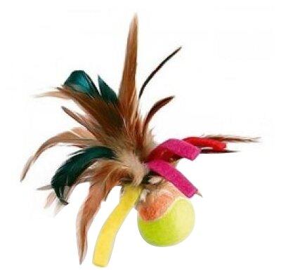 """Hunter игрушка для кошек """"Дразнилка рыбка"""", текстиль красная, зеленая"""