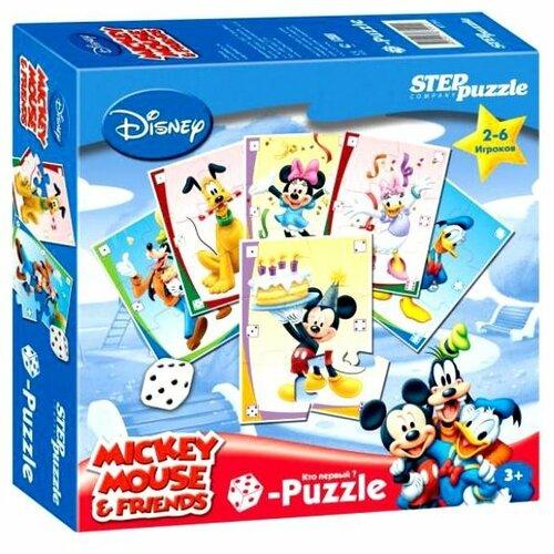 Настольная игра Step puzzle Кубик-пазл Микки Маус