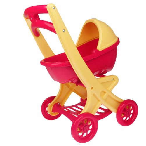 Купить Коляска-люлька Doloni С люлькой (0121) фуксия/бежевый, Коляски для кукол