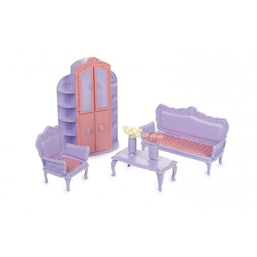 Фото - Мебель для кукол Огонек Гостиная комната Маленькая принцесса, (светло-сиреневая) (С-1525) ванная комната для куклы огонек маленькая принцесса