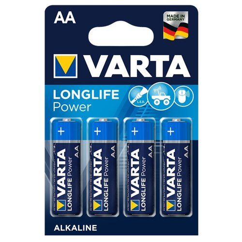Фото - Батарейка VARTA LONGLIFE Power AA 4 шт блистер батарейка varta longlife c блистер 2шт