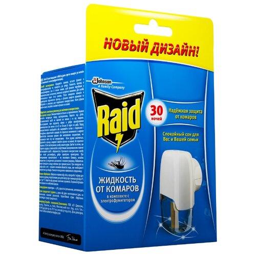 Фумигатор + жидкость Raid от комаров 21.9 мл 30 ночей