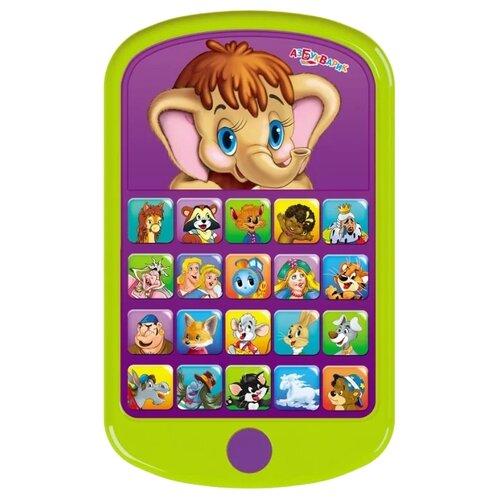 Интерактивная развивающая игрушка Азбукварик Мультиплеер Мамонтёнок зеленый интерактивная развивающая игрушка азбукварик мультиплеер песенки в шаинского зеленый