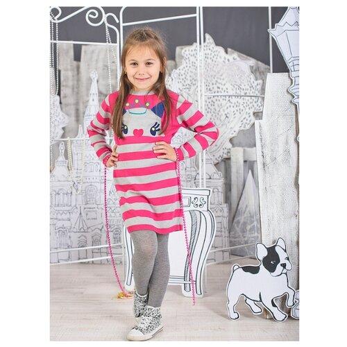Платье cherubino размер (110)-60, розовый/сер.меланжПлатья и сарафаны<br>