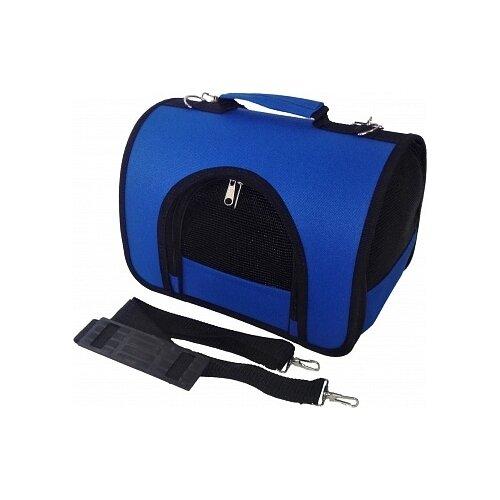 Сумка-переноска для кошек и собак LOORI Z8388 40х25х27 см синий
