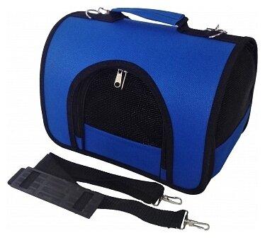 Переноска-сумка для кошек и собак LOORI Z8388 40х25х27 см синий