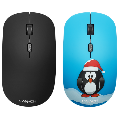 Мышь Canyon CND-CMSW401PG Пингвин Blue USB