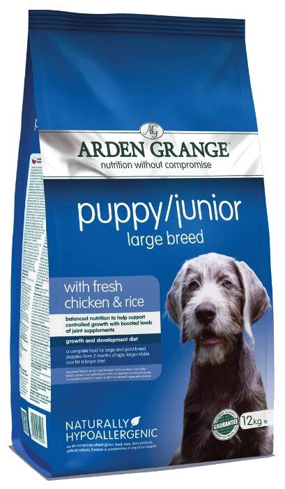Корм для собак Arden Grange (12 кг) Puppy/Junior Large Breed сухой корм цыпленок и рис для щенков и молодых собак крупных пород