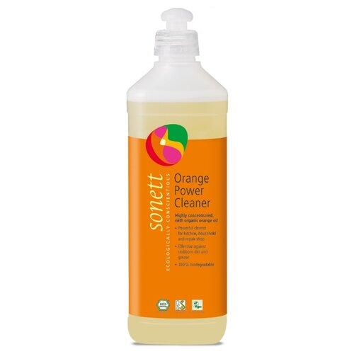 Orange Power Cleaner средство для удаления жирных загрязнений с маслом апельсиновой корки Sonett 500 мл