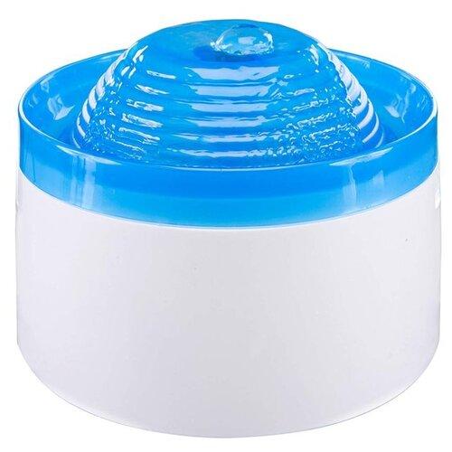 Автопоилка Penn-Plax Clear Springs Pet Fountain электрическая 1.89 л белый/голубой penn plax переноска клетка penn plax для грызунов и птиц большая