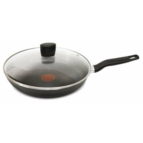 Сковорода Tefal Extra 04165926, 26 см, с крышкой, черный