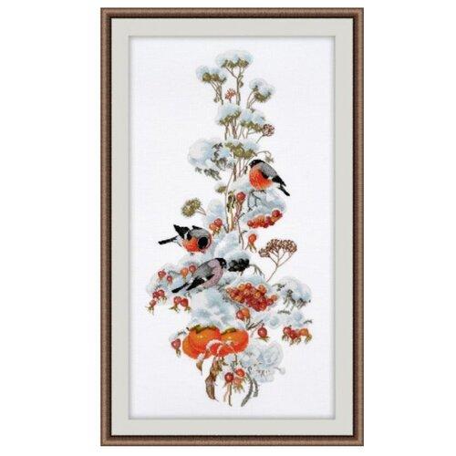 Купить Овен Цветной Вышивка крестом Зимняя композиция 20 х 44 см (950), Наборы для вышивания