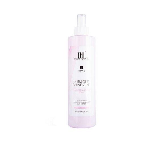 Купить TNL Professional спрей-кондиционер Miracle Shine 2 in 1 двухфазный для легкого расчесывания и блеска волос, 500 мл