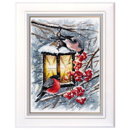 Купить Овен Цветной Вышивка крестом Рождественский свет 20 х 28 см (1024), Наборы для вышивания