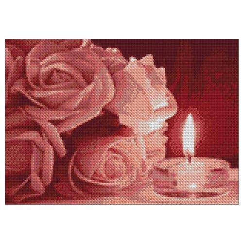 Купить Гранни Набор алмазной вышивки Розы и свечка (ag5829) 38x27 см, Алмазная вышивка