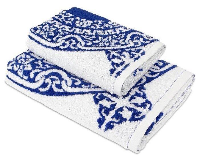 Wellness Полотенце Лабиринт для рук 50х100 см синий узор