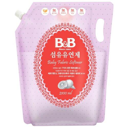 B&B Кондиционер-ополаскиватель для детского белья с первых дней жизни с ароматом бергамота и грейпфрута, 2.1 л, пакет