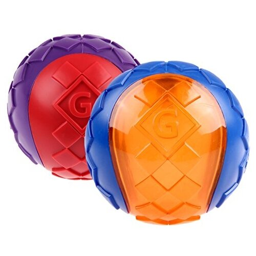 Набор игрушек для собак GiGwi G-Ball Два мяча (75336) синий/оранжевый/фиолетовый/красный