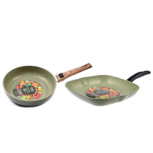 Купить со скидкой Набор сковород Panairo OliverStone №1 3 пр. зеленый