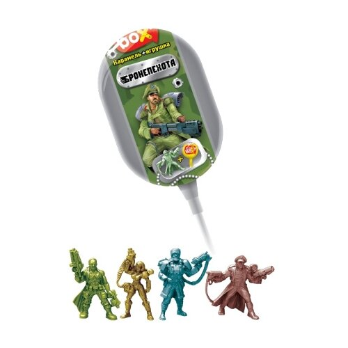 Карамель Конфитрейд Lolly box на палочке в капсуле с игрушкой 11.4 гКонфеты, карамель, леденцы<br>