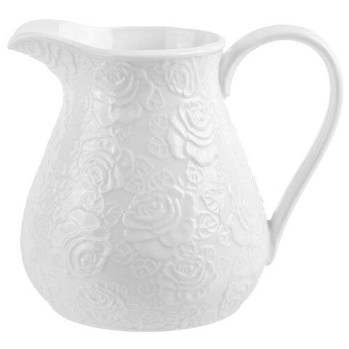Подарочный кувшин Elan gallery Белые розы 1.1 л белый