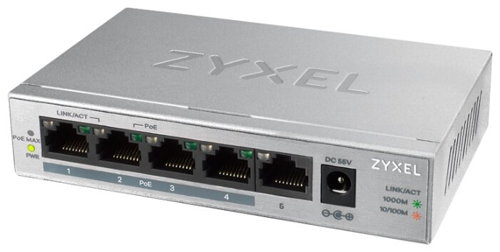 Коммутатор ZYXEL GS1005HP-EU0101F
