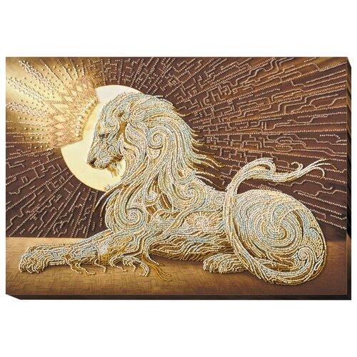 ABRIS ART Набор для вышивания бисером Аслан 43 х 31 см (AB-582)
