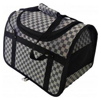 Переноска-сумка для кошек и собак LOORI Z8609 40х25х27 см серебро