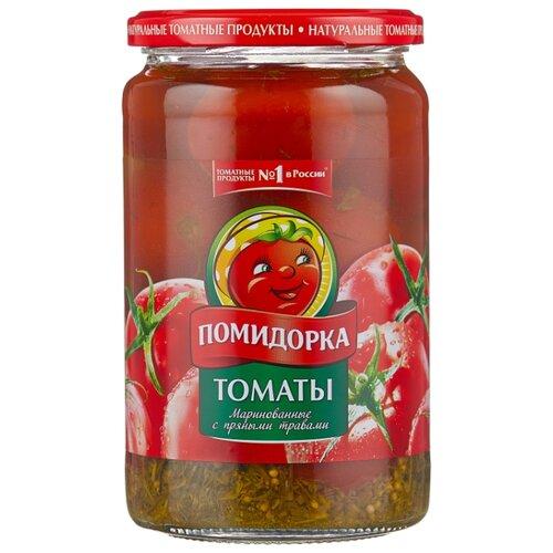 Фото - Томаты маринованные с пряными травами Помидорка, 680 г лечо сладкий перец в томатном соусе помидорка 680 г