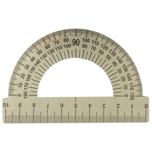 Купить Пифагор Транспортир 10 см 180° (210637) металлик, Чертежные инструменты
