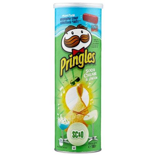 Чипсы Pringles картофельные Sour Cream & Onion, 165 г