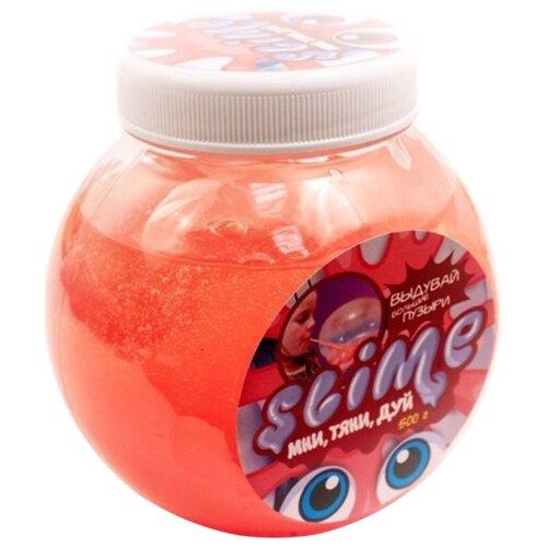 Лизун SLIME Mega Mix прозрачный + красный, 500 г (S500-1)