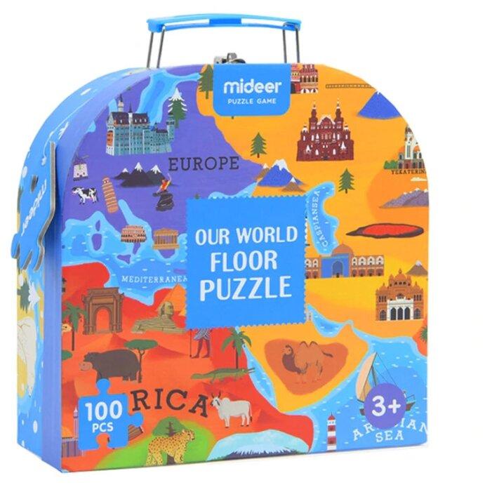 Пазл MiDeer Карта мира большой напольный (MD3027), 100 дет.