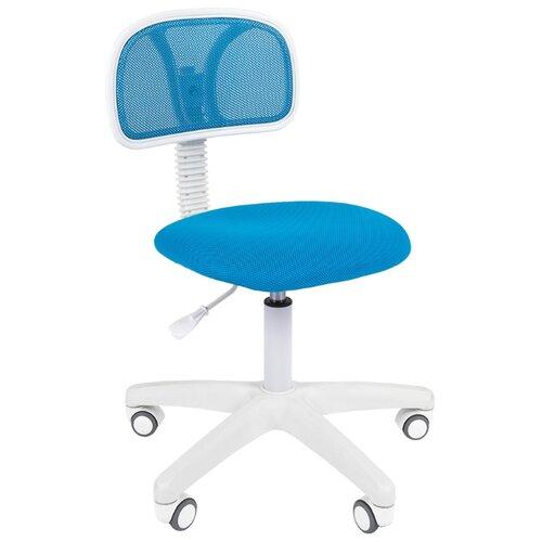 Компьютерное кресло Chairman 250, обивка: текстиль, цвет: белый/голубойКомпьютерные кресла<br>