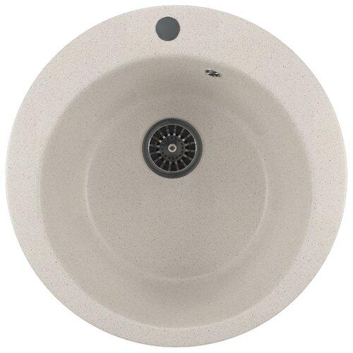 Врезная кухонная мойка 49.5 см Mixline ML-GM13 белая 331 врезная кухонная мойка 42 см mixline ml gm14 бежевая 328