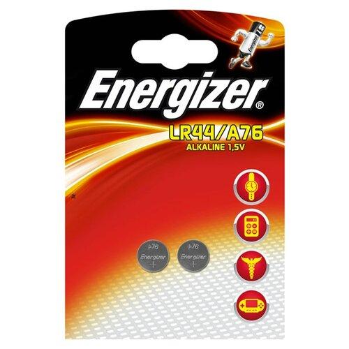 Батарейка Energizer LR44/A76 2 шт блистер батарейка energizer cr2016 2 шт блистер
