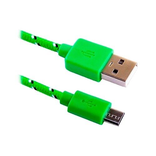 Кабель BLAST USB - microUSB (BMC-112) 1 м зеленыйКомпьютерные кабели, разъемы, переходники<br>
